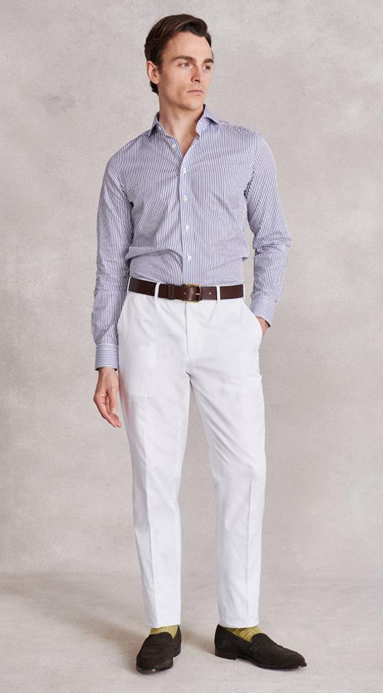 White Cotton Chinos