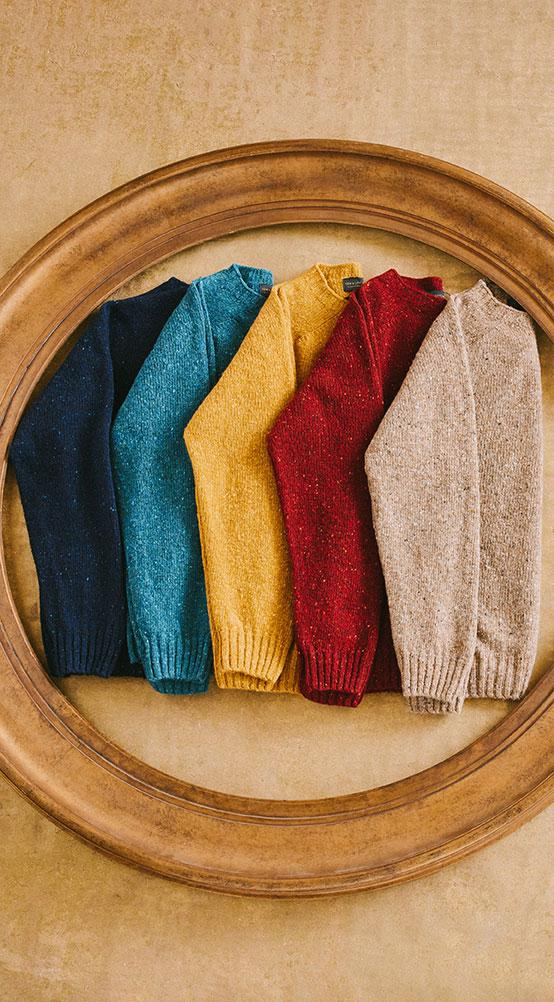 Soft Donegal Crew Neck Sweater