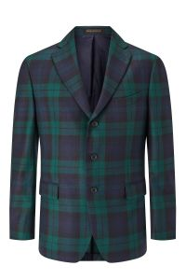 Black Watch Tartan Single Breasted Jacket