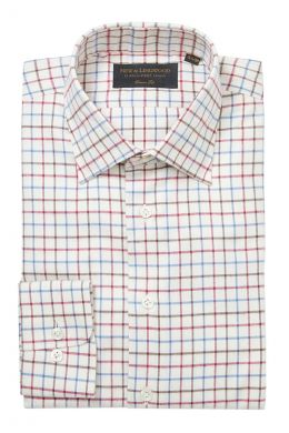 Burgundy Tattersall Check Soft Collar Classic Fit Flannel Shirt