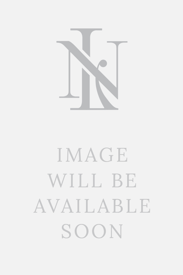 Navy Cream Renaissance Silk Jacquard Slippers