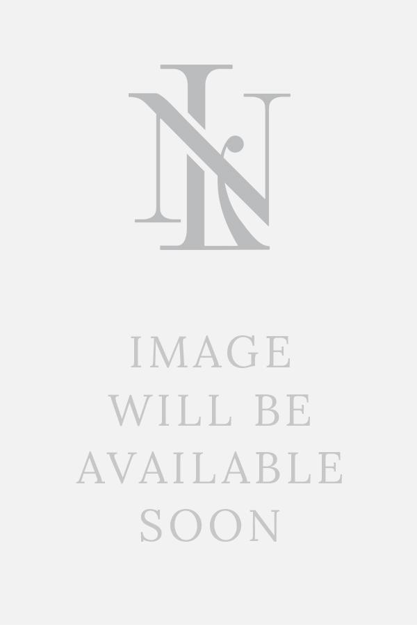 Navy White Leaf Print Short Sleeve Linen Shirt