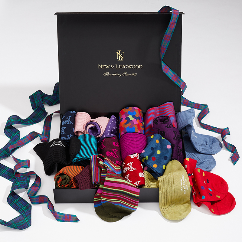 Socks In A Box New & Lingwood